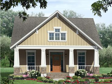 Bungalow House Plan, 001H-0132