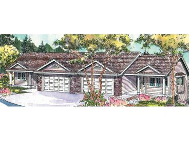 Duplex House Plan, 051M-0017