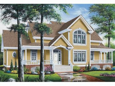 Country Home Plan, 027H-0017