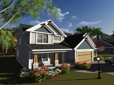 Craftsman Home Plan, 020H-0396