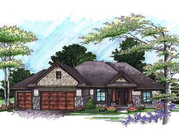 Ranch Home Design, 020H-0241