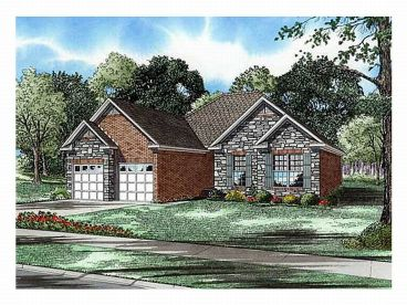 Ranch House Plan, 025H-0054