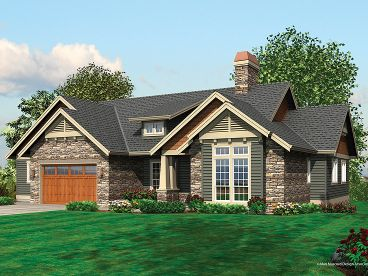 Sloping Lot House Plan, 034H-0012