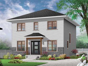 Narrow Lot House Plan, 027H-0470