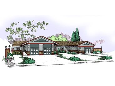 Triplex Home Plan, 013M-0017
