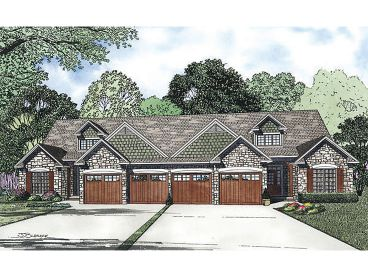 Townhouse Plan, 025M-0079