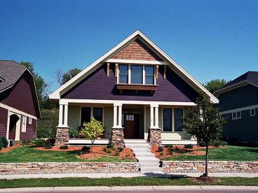 Bungalow House Plan, 023H-0090
