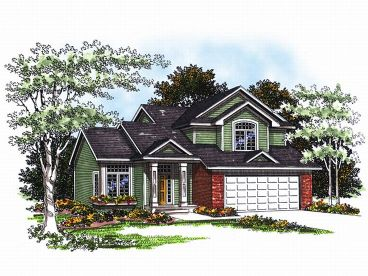 Narrow Lot House Plan, 020H-0017