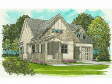 Bungalow House Plan, 029H-0008