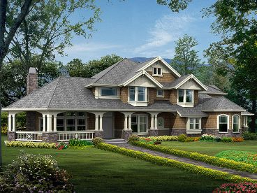 Craftsman Home Plan, 035H-0086