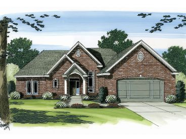 Traditional House Design, 050H-0030
