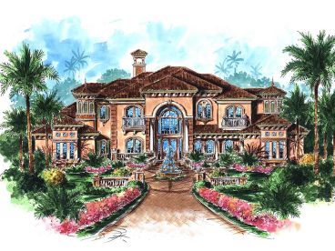 Premier Luxury Home Plan, 037H-0071