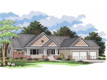 Ranch Home Design, 023H-0141