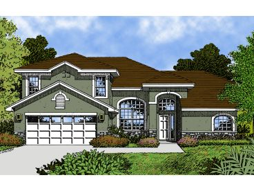 2-Story Home Plan, 043H-0061