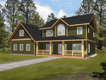 Country Home Plan, 012H-0054