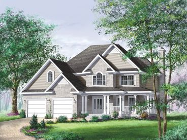 Country Traditional House Plan, 072H-0010