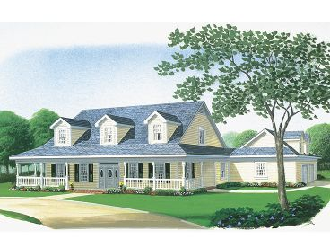 2-Story Country House, 054H-0013