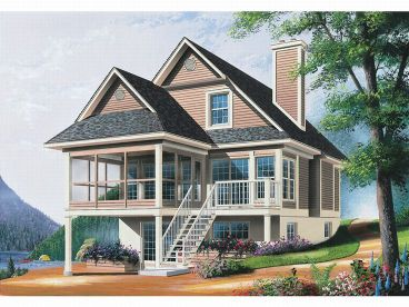 Waterfront Home Plan, 027H-0071