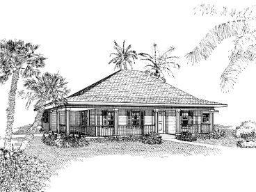 Coastal House Plan, 054H-0041