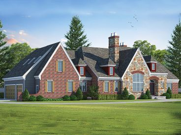 European House Plan, 031H-0261