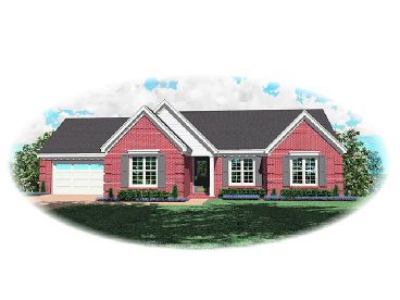 Ranch Home Plan, 006H-0062