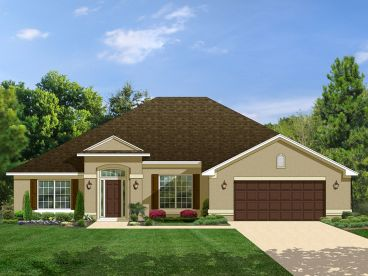 Ranch Home Plan, 064H-0030