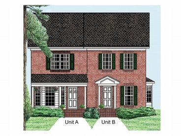 Duplex House Plan, 011M-0001