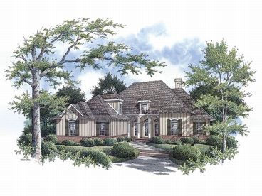 European House Plan, 021H-0116
