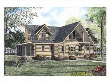 Log House Design, 025L-0020