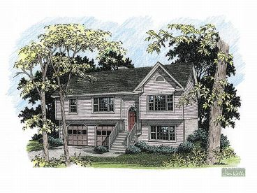 Split-Level Home Plan, 007H-0020