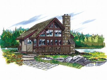 Cabin House Plan, 032H-0003