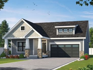 Bungalow House Plan, 031H-0396