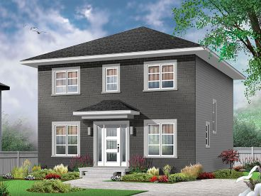 Narrow Lot House Plan, 027H-0442