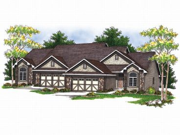 Duplex House Plan, 020M-0003
