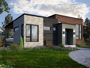 Small Modern House Plan, 027H-0434