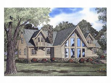 Waterfront Log House, 025L-0007