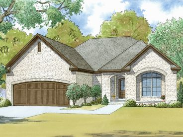 Small European House Plan, 074H-0043