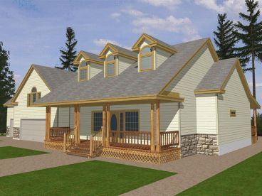 Country Home Plan, 012H-0081