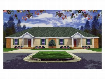 Duplex Home Plan, 001M-0004