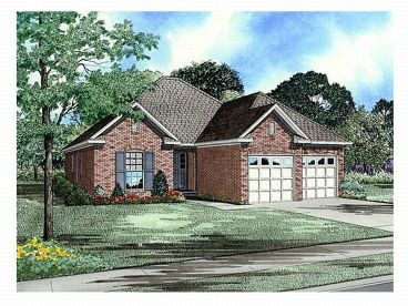 Narrow Lot House Plan, 025H-0051