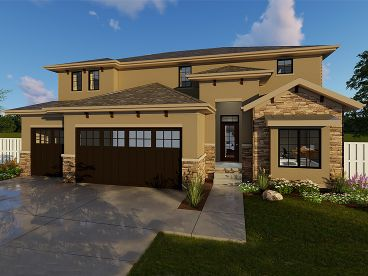 Tuscan House Plan, 050H-0101