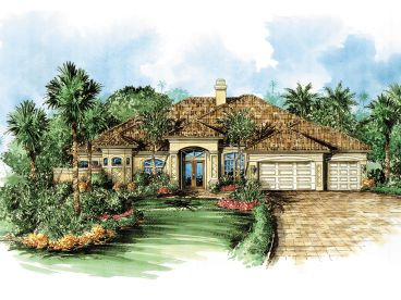 Florida Style Home Plan, 040H-0008