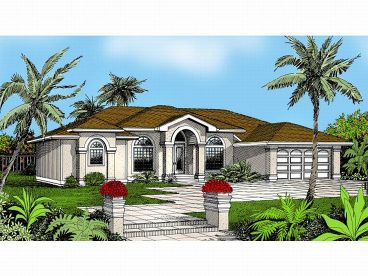 Stucco House Plan, 026H-0035