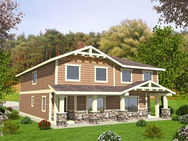 Duplex House Plan, 012M-0009