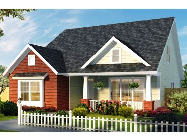 Narrow Lot House Plan, 059H-0212