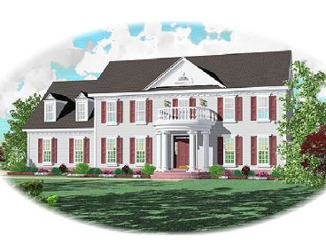 Colonial House Plan, 006H-0073