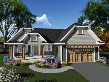 Ranch House Plan, 020H-0408