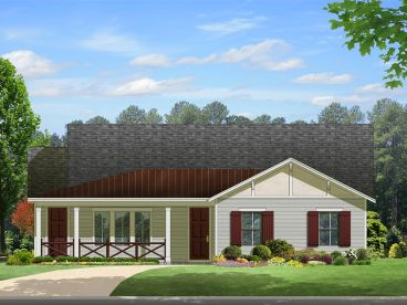 Ranch Home Design, 064H-0065