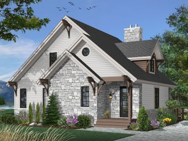 Two-Story House Plan, 027H-0078