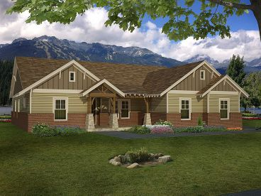 Craftsman House Plan, 062H-0061
